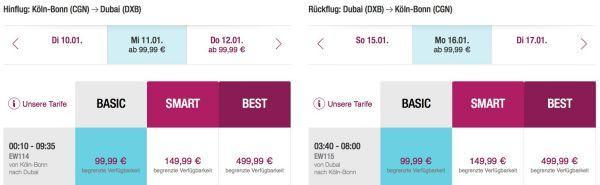Dubai mit Eurowings