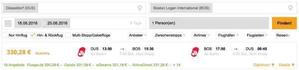 Boston Flüge