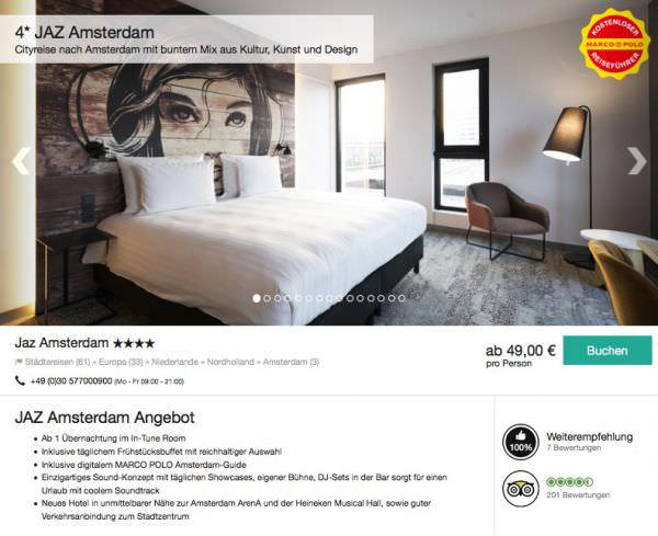 Amsterdam im 4 sterne musik designhotel ab 49 euro for Designhotel 21