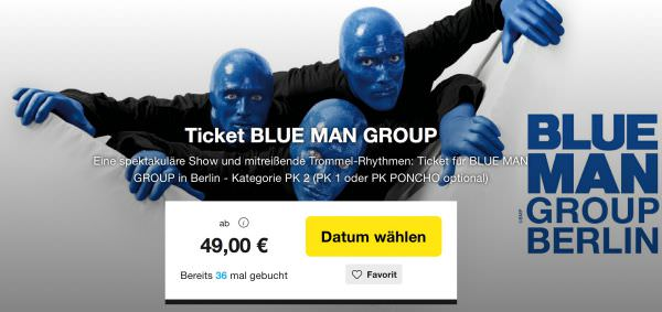 berlin blue man group tickets ab 49 euro. Black Bedroom Furniture Sets. Home Design Ideas