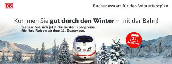 Bahn Winter-Fahrplan