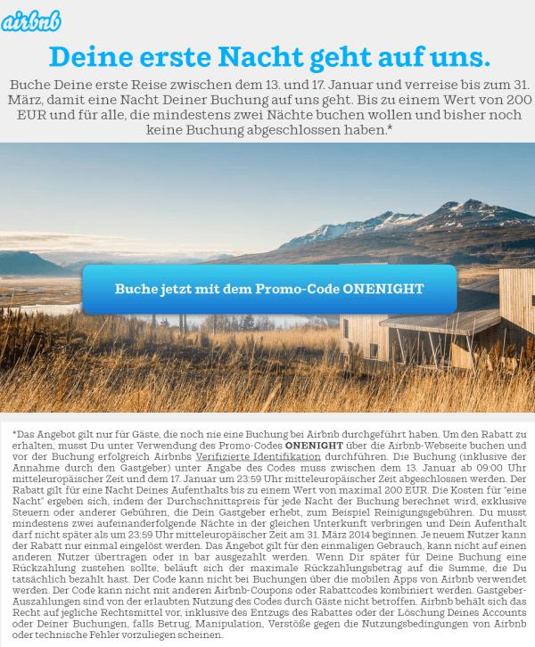 airbnb gutschein neukunde