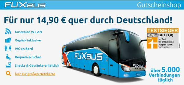 flixbus zum festpreis von 14 90 euro durch deutschland. Black Bedroom Furniture Sets. Home Design Ideas