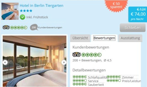 Hipaway Hotelschnäppchen