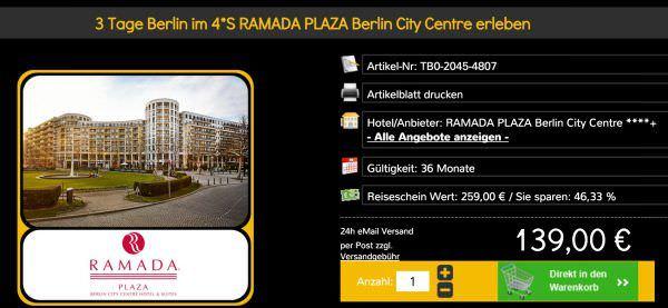 Reiseschein Berlin