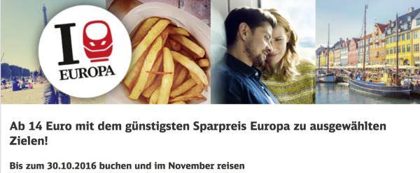 Sparpreis Europa