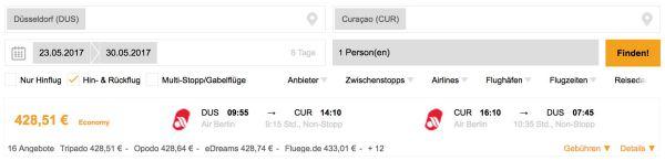 Curacao Air Berlin
