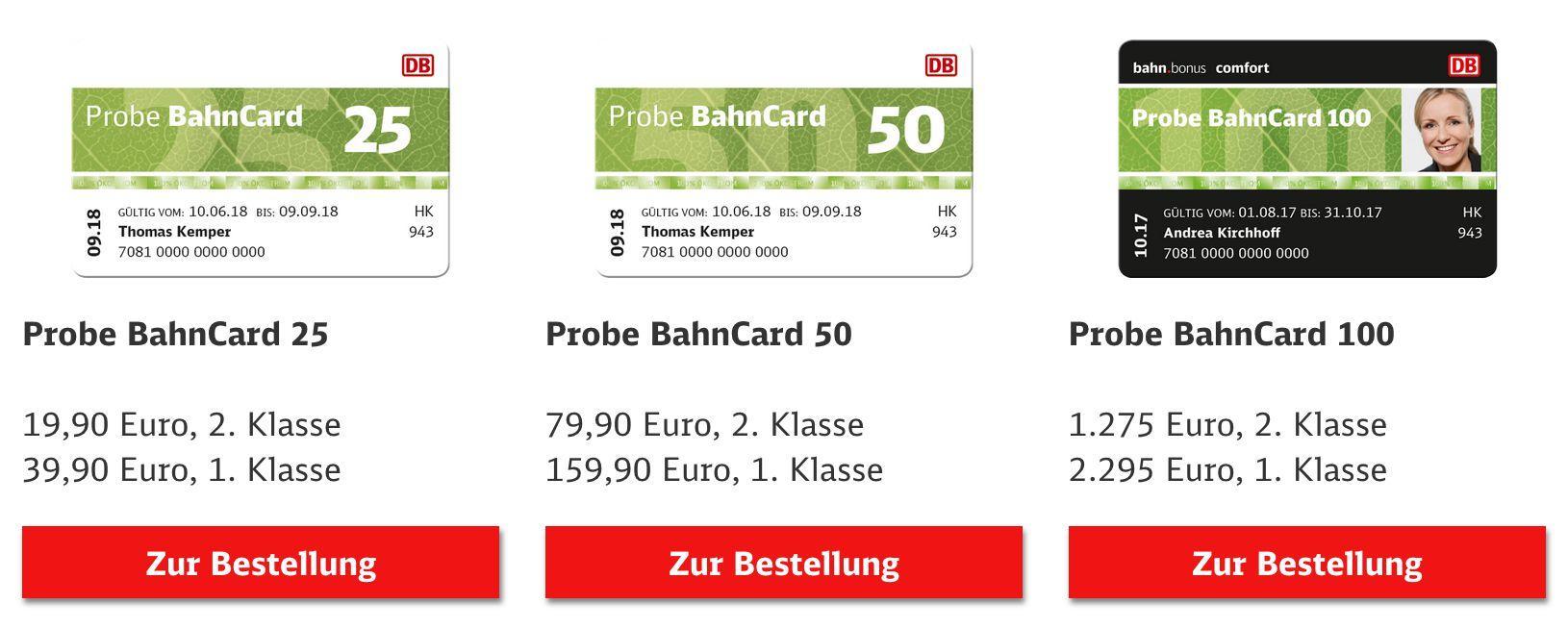 Bahncard 25 Auf Probe