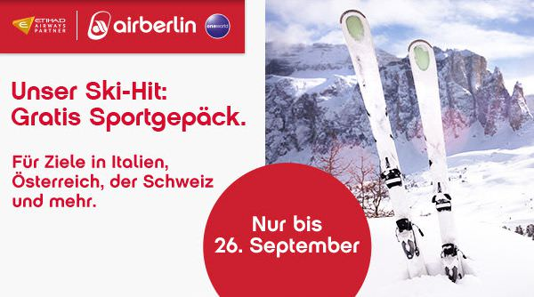 Air Berlin Skigepäck