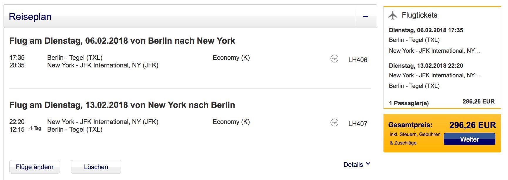 Lufthansa Nonstop Flüge Von Berlin Nach New York Ab 296 Euro